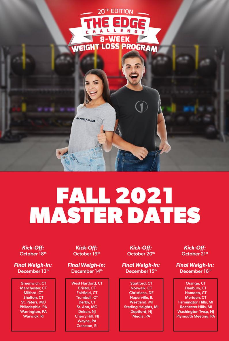 Fall Edge Challenge Master Schedule