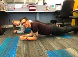 Plank at the office