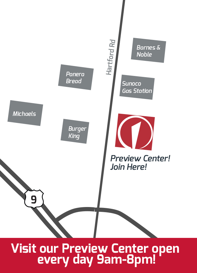 West Hartford Preview map with hours
